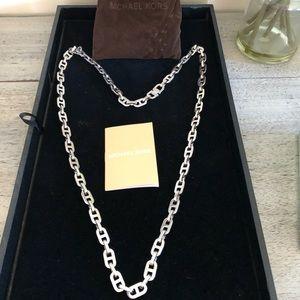 Michael Kors Authentic Long Silver Necklace